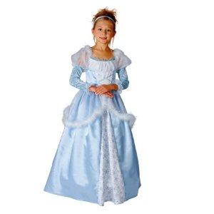 Märchen Prinzessin Kleid in Blau Faschingskostüme für Kinder