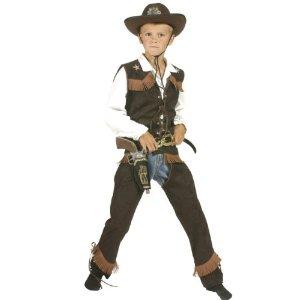Cowboy Kostüm, Cowboyweste und Chaps, Größe 128
