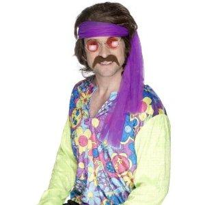 Brauner Bart 70er Jahre Hippiebart Hippie Flower Power