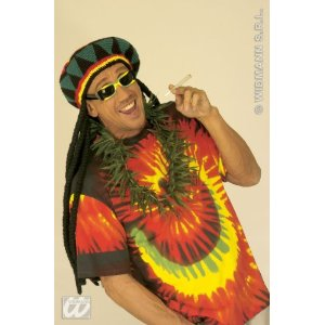 Deko Hanf Kette Hippie Kostm Rasta Reggae