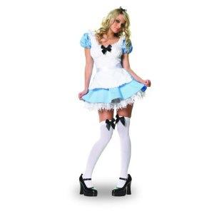 Fasching Kostüm Damen Sexy Alice im Wunderland 2-teilig