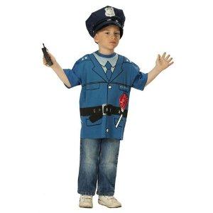 Kinder Kostüm T-Shirt Polizei Polizist