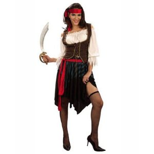 Damen-Kostüm Piratin