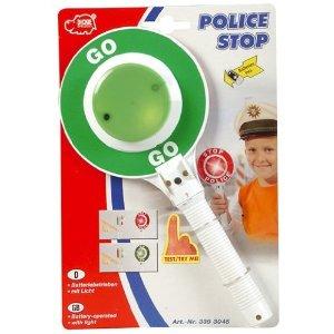 Dickie 20 339 3045 - Polizeikelle grün / rot, mit Licht