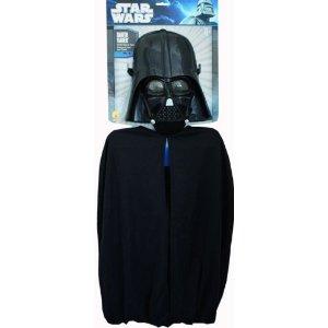 Kinderkostümset Darth Vader, Maske und Umhang