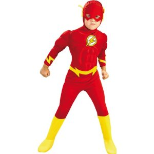 Original Lizenz Rotes The Flash Kinderkostüm Kostüm für Kinder der rote Blitz Flashkostüm Fasching Karneval