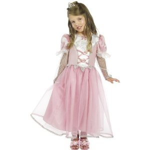 Prinzessinkostüm Kinder Prinzessin Kleid PINK Kostüm 3-5 J Gr S