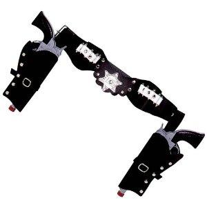 Widmann 8501B - Pistolengürtel mit 2 Halftern, Kindergröße